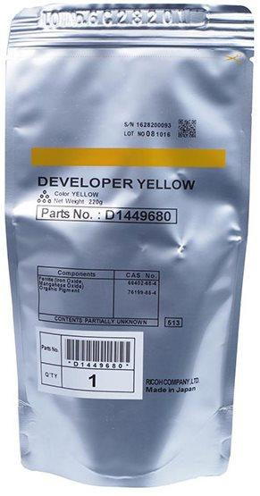 developer RICOH Typ D1449680 yellow MP C3002/C3502/C4502/C5502