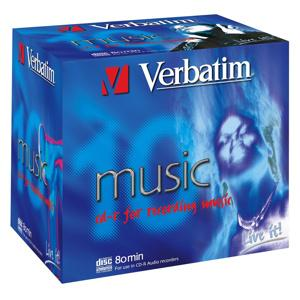 CD-R VERBATIM DTL+ AUDIO 80MIN 10ks/bal.