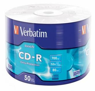 CD-R VERBATIM DTL Extra Protection 700MB 52X 50ks/spindel